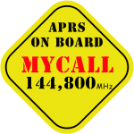 Plantilla 13x13 APRS on board Call 144800