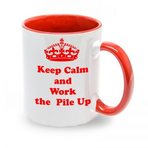 Taza Roja Keep Calm and work the Pile Up
