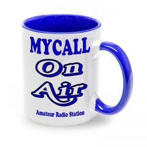 Taza azul Mycall On Air