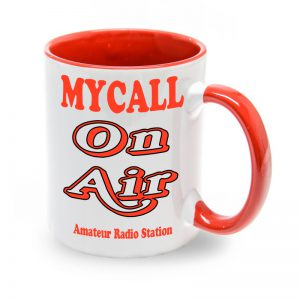 Taza roja Mycall On Air