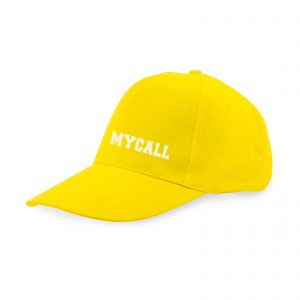 Gorra amarillo bordado blanco